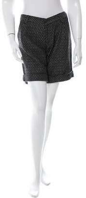 Dolce & Gabbana Patterned Wool Shorts