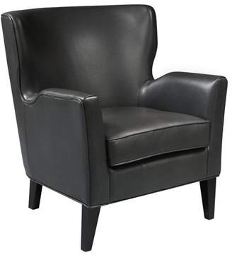 HomeFare Modern Style Charcoal Grey Faux Leather Accent Arm Chair