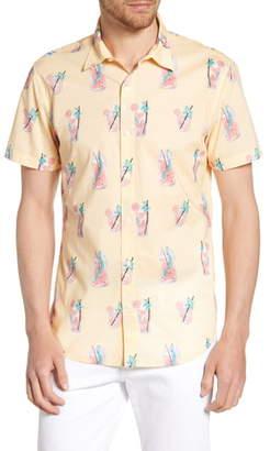 Bonobos Riviera Slim Fit Lemonade Print Sport Shirt