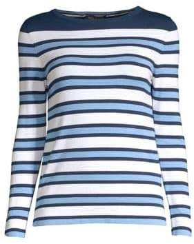 Piazza Sempione Striped Knit Long-Sleeve Top