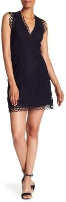 French Connection Zahara V-Neck Lace Dress