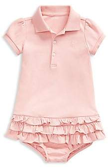 fb622773 Baby Girl's Two-Piece Ruffled Cotton Polo Dress & Bloomers Set
