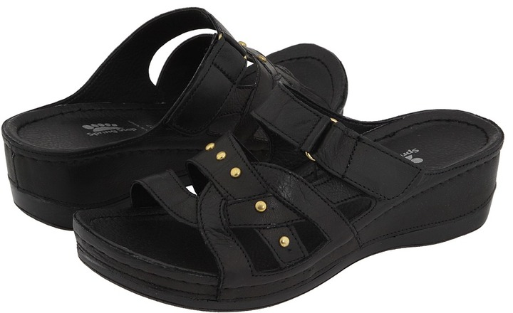 Spring Step Enlighten (Black Leather) - Footwear