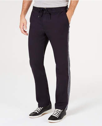 Club Room Men's Stretch Drawstring Side Stripe Pants