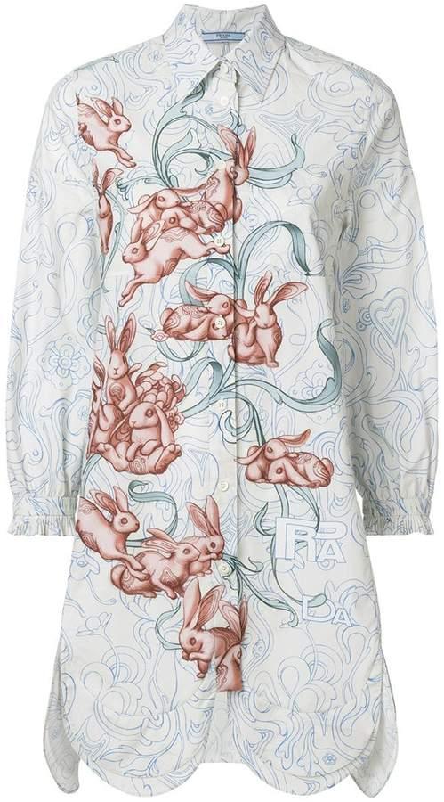 Prada rabbit print shirt