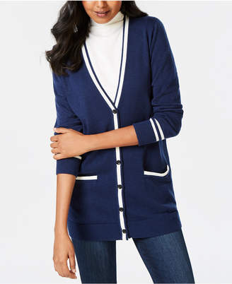 Charter Club Button-Front Cardigan