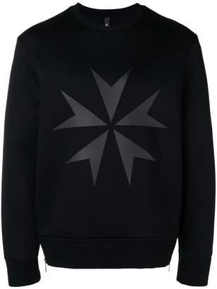 Neil Barrett Military Star print sweatshirt