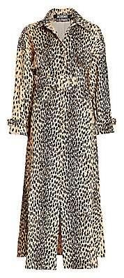 Jacquemus Women's Le Manteau Thika Leopard-Print Trench Coat
