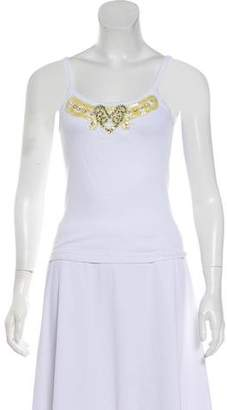 Anna Sui Sleeveless Embellished Top
