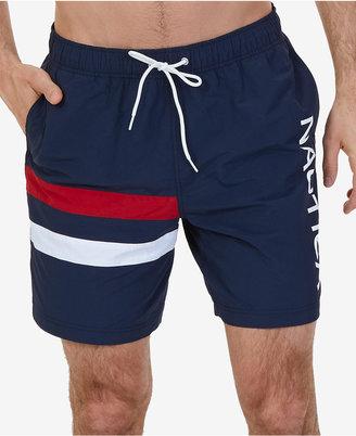 Nautica Men's Quick-Dry Double Stripe Swim Trunks $69.50 thestylecure.com