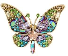 Betsey Johnson Blooming Crystal Butterfly Statement Ring