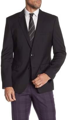 BOSS Hayes Notch Collar Wool Coat