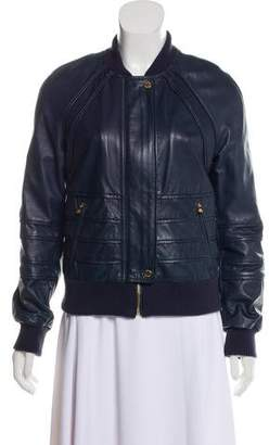 Tory Burch Faux Leather Zip-Up Jacket