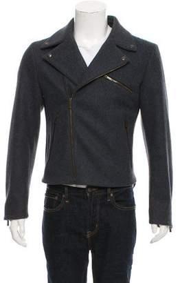 Alexander McQueen Zip-Up Wool Moto Jacket