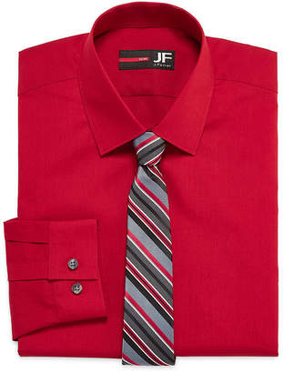 Jf J.Ferrar JF Long-Sleeve Easy-Care Dress Shirt and Tie Set