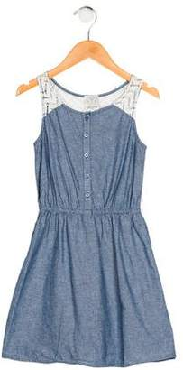 Ella Moss Girls' Chambray Sleeveless Dress