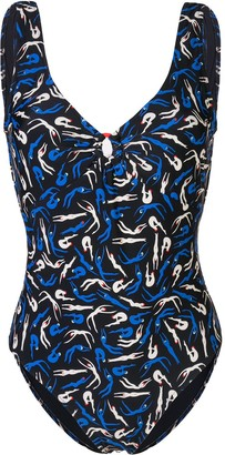 Diane von Furstenberg silhouette print swimsuit