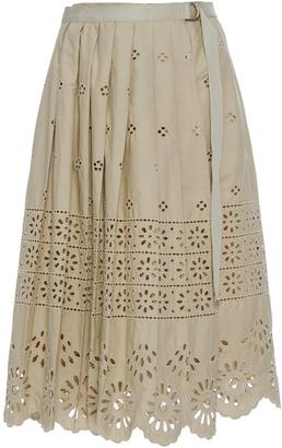 Sea Wrap Eyelet Skirt $365 thestylecure.com