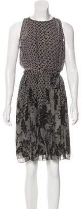 Diane von Furstenberg Ria Print Chiffon Sleeveless Dress