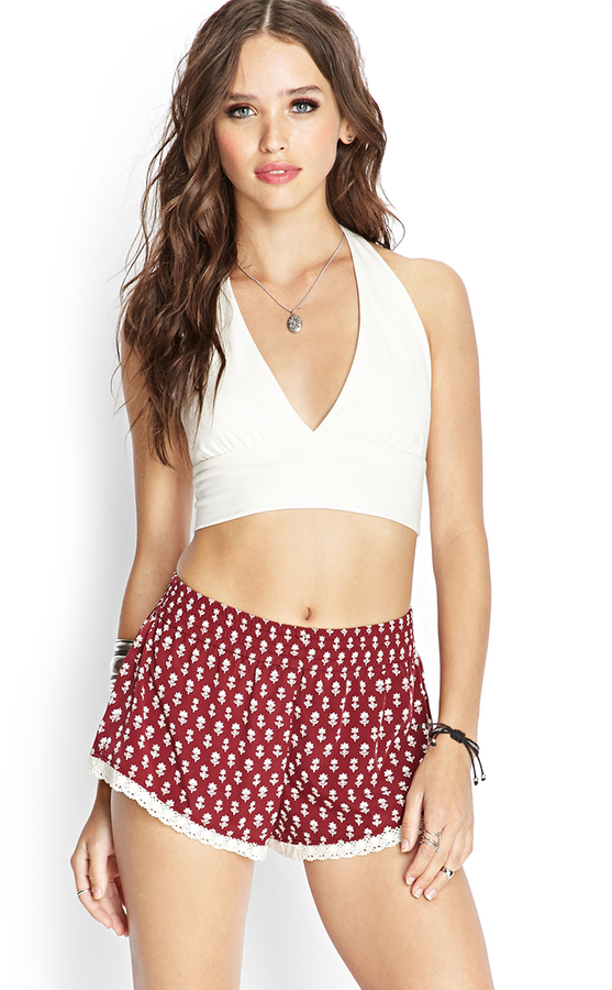 Forever 21 Floral Print Shorts