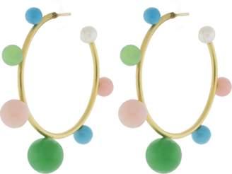 Irene Neuwirth JEWELRY Turquoise Chrysoprase Pink Opal Earrings