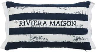 Brave Stripe Dark Blue Rectangular Cushion