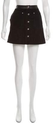 Rag & Bone Suede Button-Up Skirt