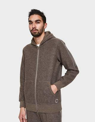Wings + Horns Adidas X Wings+Horns MiC wings+horns Hooded Zip Up in Simple Brown