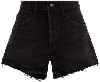 A Gold E Agolde Parker High Rise Denim Shorts
