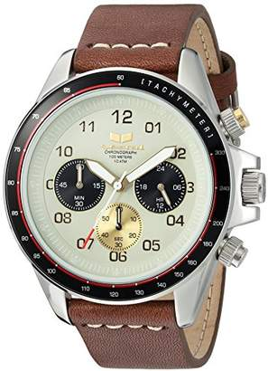 Vestal 'ZR2' Quartz Stainless Steel and Leather Casual Watch