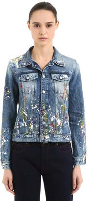 Calvin Klein Jeans Paint Splatter Cotton Denim Jacket