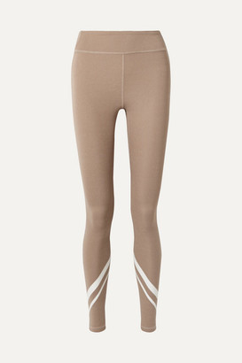 Tory Sport Printed Stretch-jersey Leggings - Mushroom