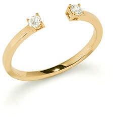 Lana Echo 14k Gold Diamond Round Ring