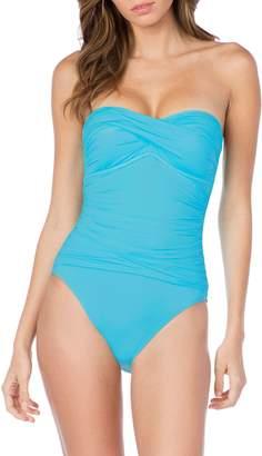 LaBlanca La Blanca Twist Front Bandeau One-Piece Swimsuit