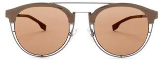 BOSS HUGO BOSS Women's Aviator Sunglasses $295 thestylecure.com