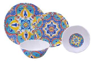 222 Fifth Romella 12 Piece Melamine Dinnerware Set, Service for 4