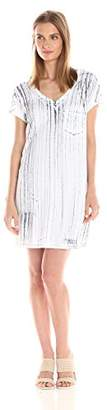 Michael Stars Women's Nautical Wash Short Sleeve Dress Pocket