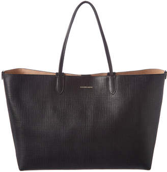 Alexander McQueen Large Embossed Leather Shopper Tote