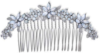 INC International Concepts I.N.C. Silver-Tone Stone & Crystal Flower Hair Comb, Created for Macy's