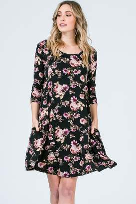 Olivia Pratt Floral Pocket Dress