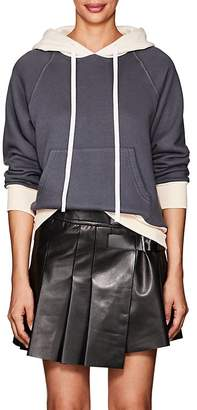 Taverniti So Ben Unravel Project Women's Colorblocked Cotton Terry Hoodie