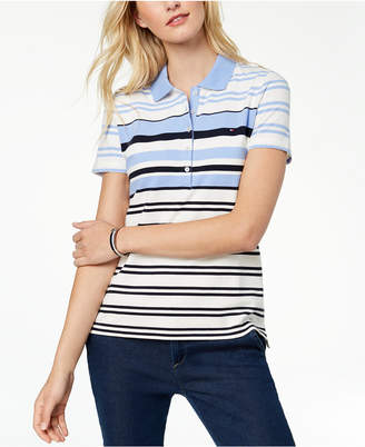 Tommy Hilfiger Short-Sleeve Striped Polo, Created for Macy's