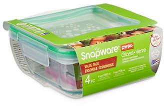 Snapware Four-Piece Spillproof Glass Food Keeper Set