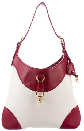 Ralph Lauren Leather-Trimmed Canvas Hobo