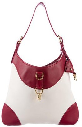 Ralph Lauren Leather-Trimmed Canvas Hobo $175 thestylecure.com