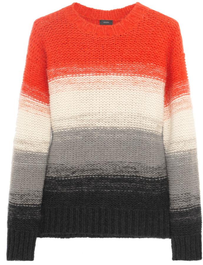Joseph Striped alpaca and mohair-blend sweater