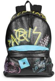 Balenciaga Graffiti Explorer Leather Backpack