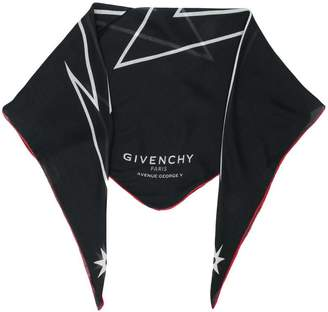 Givenchy lightning bolt print scarf