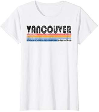 Womens Vintage 1980s Style Vancouver Washington T Shirt Medium