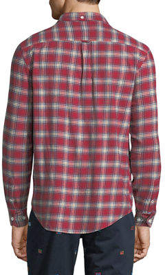 Original Penguin Men's Checkered-Plaid Flannel Sport Shirt